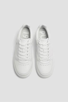 Pull & Bear Kadın Beyaz Tek Renk Spor Ayakkabı 11307540 2