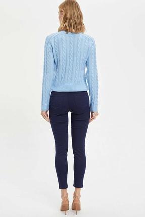 Defacto Kadın Lacivert Slim Fit Dokuma Pantolon M0649AZ.20SP.NV31 2
