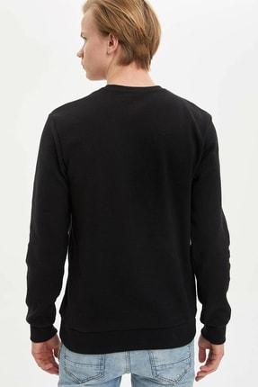 Defacto Erkek Siyah New York Baskılı Sweatshirt N2569AZ.20SP.BK27 3
