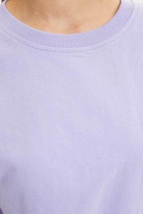Defacto Basic Düşük Omuzlu Sweatshirt 3