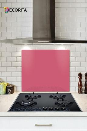 Decorita Düz Renk - Neon Pembe   Cam Ocak Arkası Koruyucu     52cm x 60cm 0