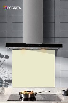 Decorita Düz Renk - Bej | Cam Ocak Arkası Koruyucu  |  52cm x 60cm 0