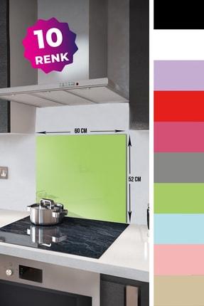 Decorita Düz Renk - Neon Yeşil   Cam Ocak Arkası Koruyucu      52cm x 60cm 1