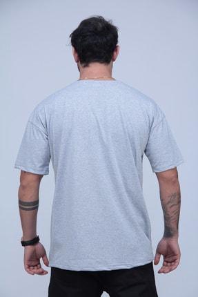 Black Sokak Erkek Gri San Francisco Baskılı Oversize Tshirt 2