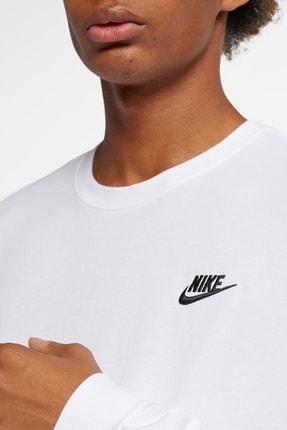 Nike Club Erkek Beyaz Sweatshirt (AR5193-100) 3