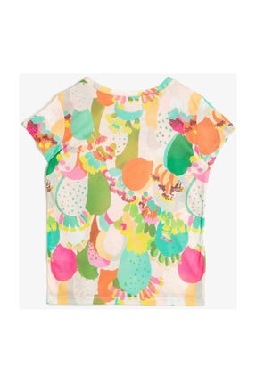 Koton Ekru Kız Çocuk T-Shirt 0YKG17006GK 0