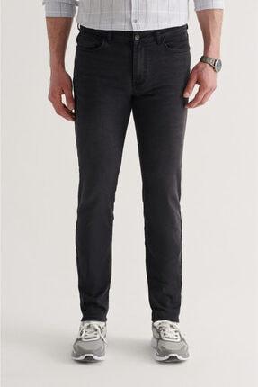 Avva Erkek Siyah Slim Fit Jean Pantolon A11y3554 0