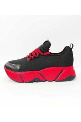 Mnz shoes Rsl Kalın Taban Triko Kumaş Çift Bağcıklı Kadın Günlük Spor Ayakkabı 1