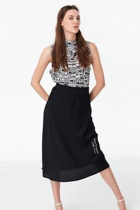 Twist Kadın Siyah Desenli Tshirt TS1200070052001 2
