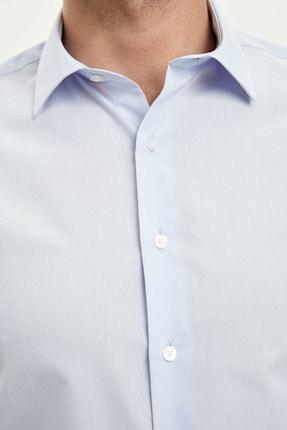 Defacto Erkek Mavi Basic Slim Fit Gömlek 2