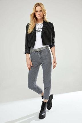Defacto Kadın Siyah Çizgili Düğme Detaylı Blazer Ceket N2899AZ.20SP.BK27 1