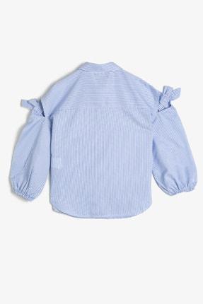 Koton Kız Çocuk Mavi Yazili Baskili Gömlek 0YKG67830AW 1