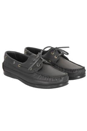 Baymen Erkek Siyah Deri  Loafer Ayakkabı 0