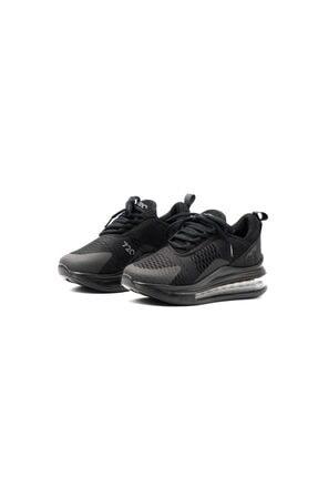 poulaine Siyah Rahat Air Taban Unisex Mevsimlik Spor Sneakers 0