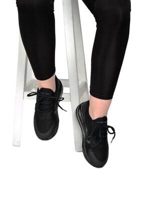 poulaine Siyah Rahat Air Taban Unisex Mevsimlik Spor Sneakers 4