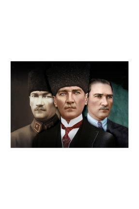 mağazacım Atatürk 3'lü Portre 50 Cm X 70 Cm Kanvas Tablo Tbl1223 2