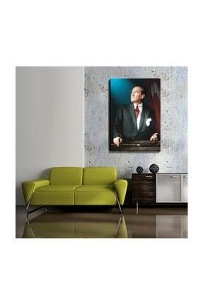 mağazacım Atatürk Ve Türk Bayrağı Portre 50 Cm X 70 Cm Kanvas Tablo Tbl1199 1