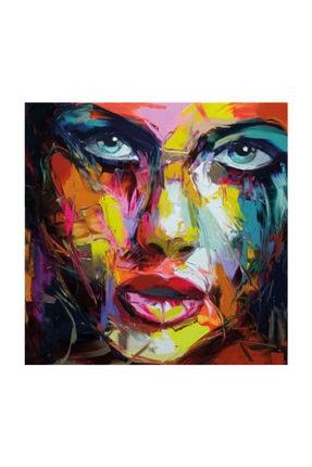mağazacım Anonim Soyut Kadın Portre Yağlı Boya Reprodüksiyon 50 cm X 50 cm Kanvas Tablo Tbl1015 2