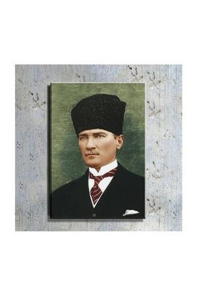 mağazacım Atatürk Kalpaklı Takım Elbiseli Portre 50 Cm X 70 Cm Kanvas Tablo Tbl1198 0