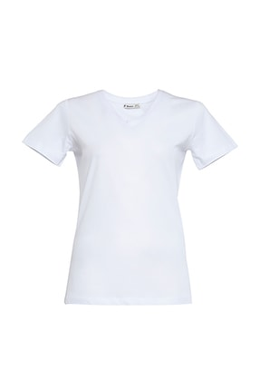 Tchibo Basic V Yaka Kadın Tişört 106794 2