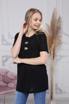Ananas Kadın Siyah Coton Merserize Tunik 3