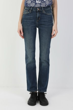 Colin's 792 Mila Normal Kesim Normal Bel Düz Paça Mavi Kadın Pantolon CL1048932 3