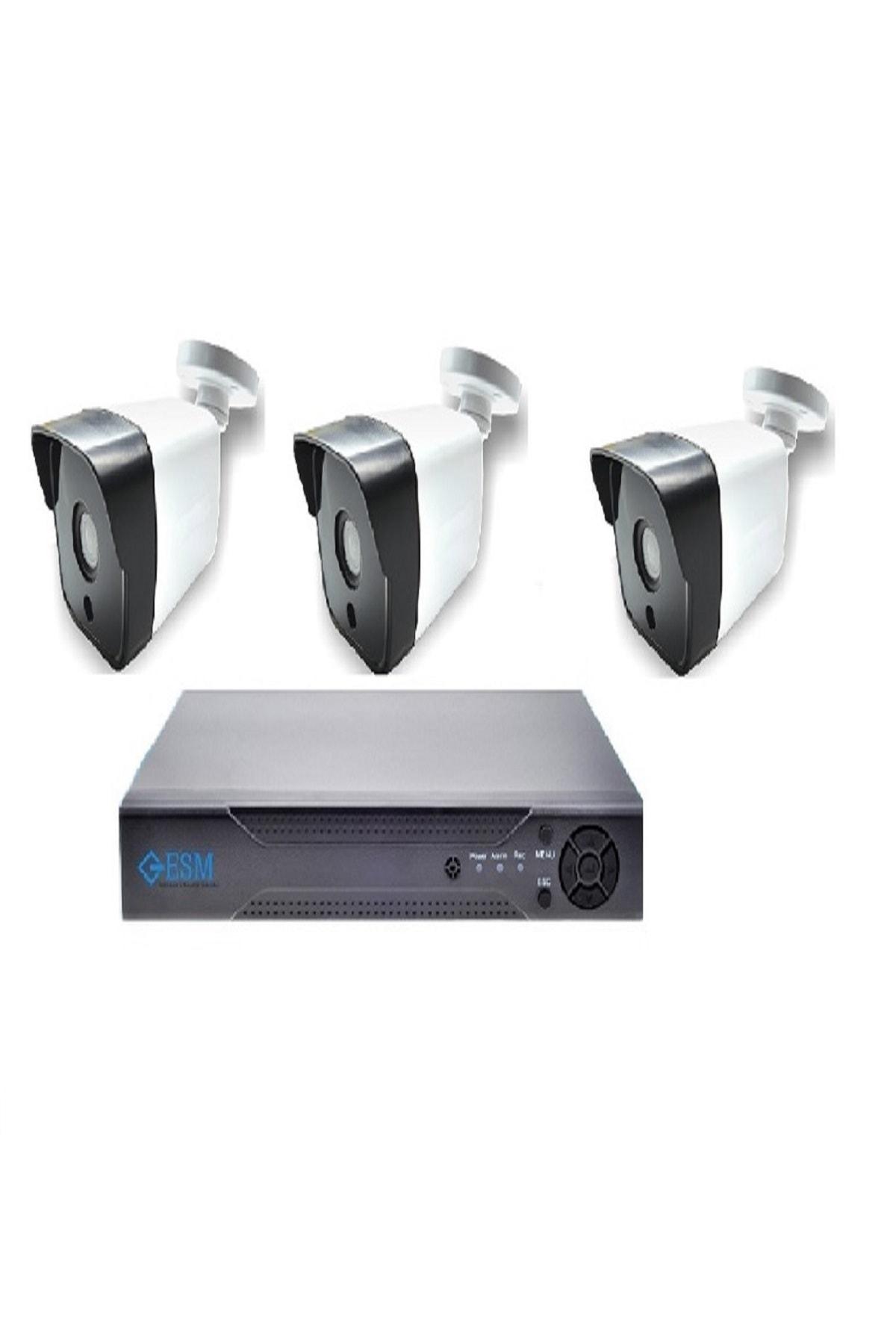 ESM TEKNOLOJİ 5 Mp Full Hd Gece Goruslu 3 Lu Güvenlik Kamera Sistemi  Fiyatı, Yorumları - Trendyol