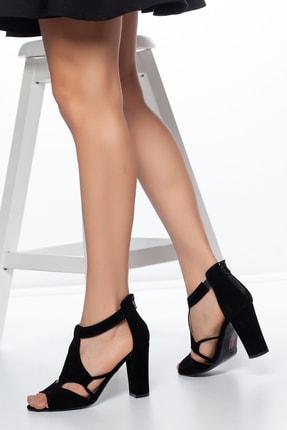 Daxtors Siyah-Süet Kadın Ayakkabı DXTRSAYŞĞ001 1