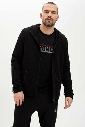 Defacto Kapüşonlu Slim Fit Fermuarlı Sweatshirt 2