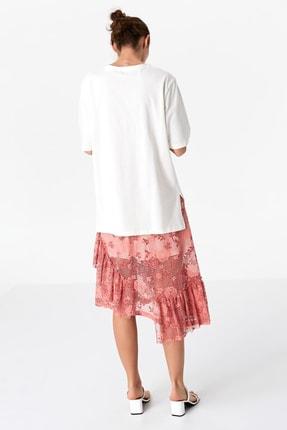 Twist Kadın Beyaz Payet İşlemeli Tshirt TS1200070080002 3