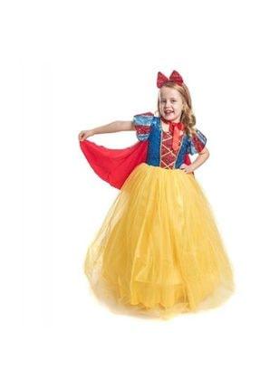 Mashotrend Tarlatanlı Pamuk Prenses Kostümü - Pamuk Prenses Kostümü Prenses Elbise - Pelerin + Taç 1