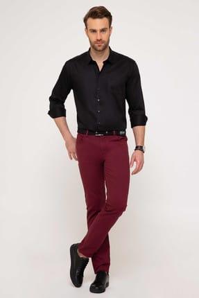 Pierre Cardin Erkek Bordo Slim Fit Chino Pantolon 0
