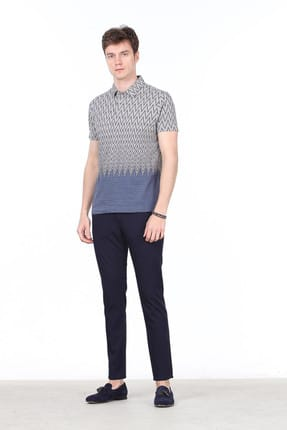 Ramsey Jakarlı Örme T-Shirt - RP10113773 1