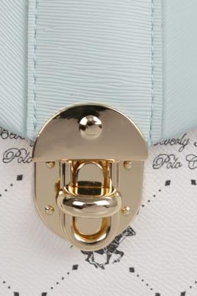 Beverly Hills Polo Club Kadın Desenli Sırt Çantası Beyaz, Turkuaz 3