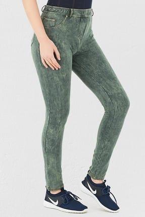 Mite Love Yeşil Pantolon Görünümlü Kadın Tayt 3