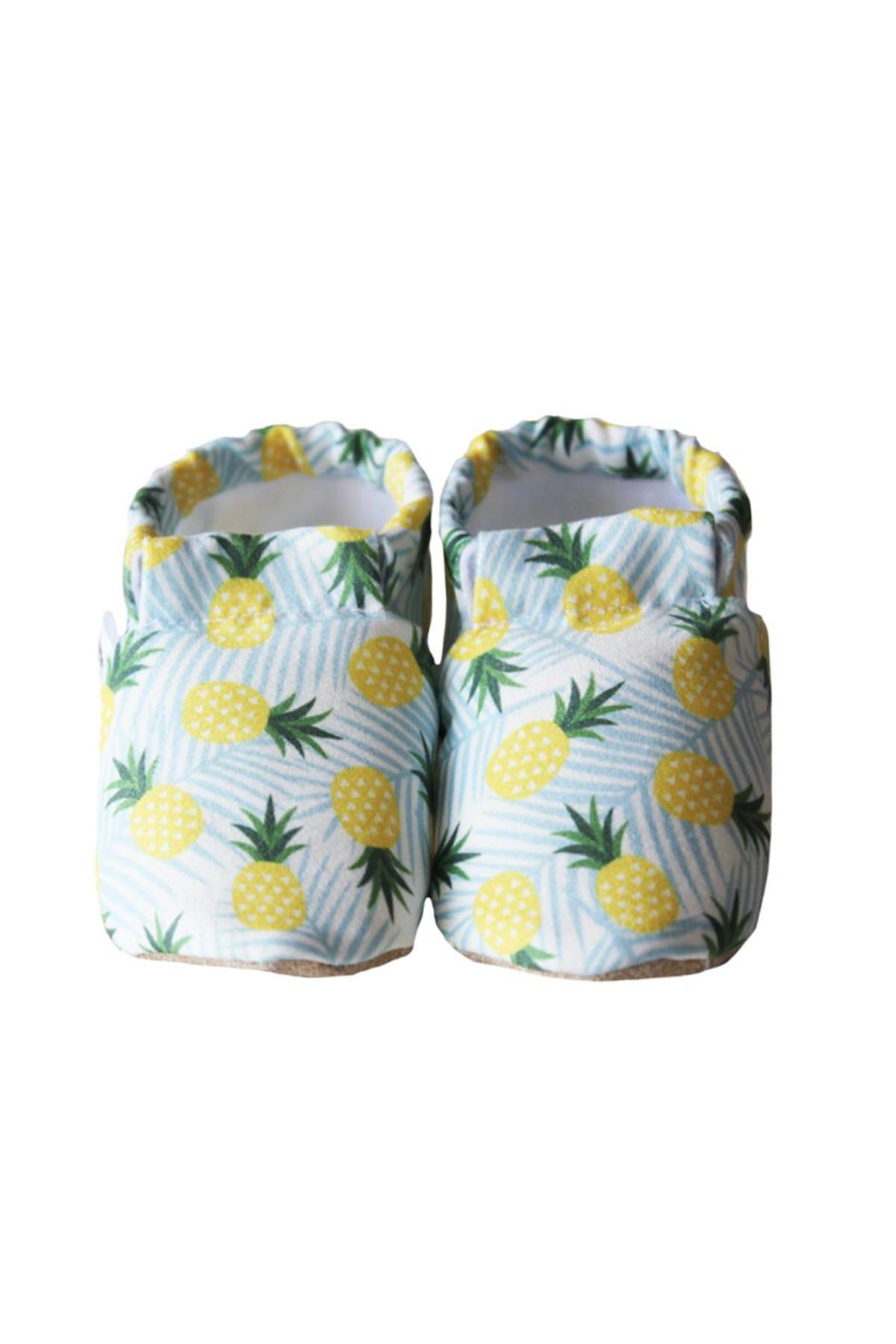 Sarı Ananas Model Kaydırmaz Bebek Patiği