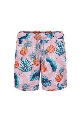 Aloha Ananas Desenli Pembe Erkek Cocuk Deniz Sort Mayo Aloha Erkek Cocuk Deniz Sort Mayo