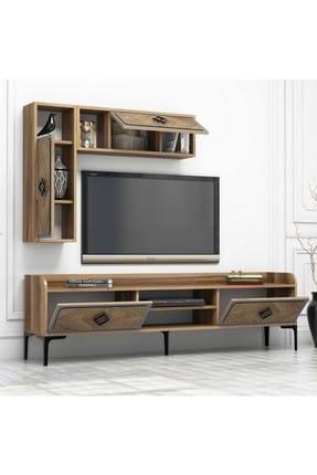 Variant Mobilya Samba Tv Ünitesi - Ceviz / Mavi 3
