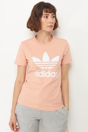 adidas Kadın Originals T-shirt - Trefoil Tee - DV2587 0
