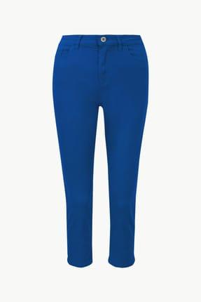 Marks & Spencer Kadın Lacivert Orta Belli Super Skinny Leg Kısa Jean Pantolon T57005110 4