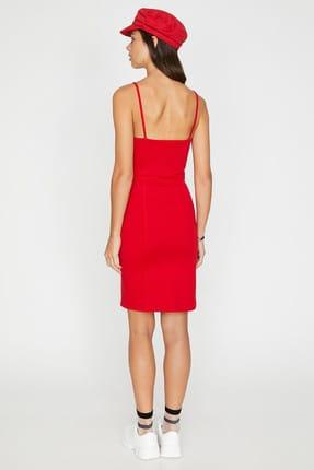 Koton Kadın Kırmızı Kolsuz Midi Askılı Elbise 9YAL88011OK 3