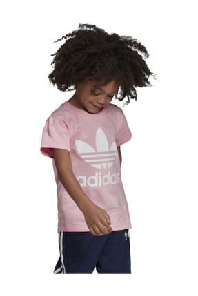 adidas Pembe Trefoıl Tee Çocuk T-Shirt 4