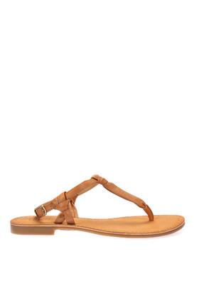 İnci Hakiki Deri Taba Kadın Sandalet 120130005456 3