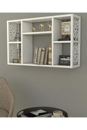 Pratico Dekoratif Duvar Rafı beyaz (50x80x20) 1