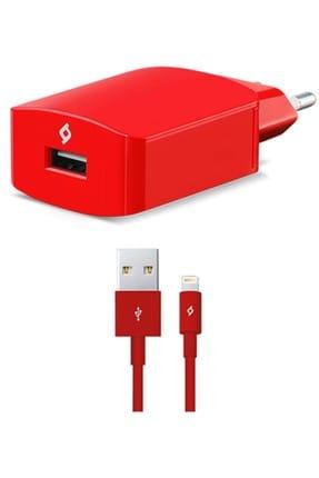 Ttec SpeedCharger Seyahat 2.1A iPhone Hızlı Şarj Aleti Kırmızı 0