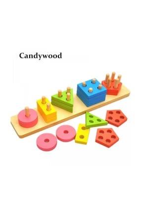RoseRoi Ahşap Eğitici Oyuncak Bultak+Geometrik Set +Tangram+Kule 6'lı Set 1