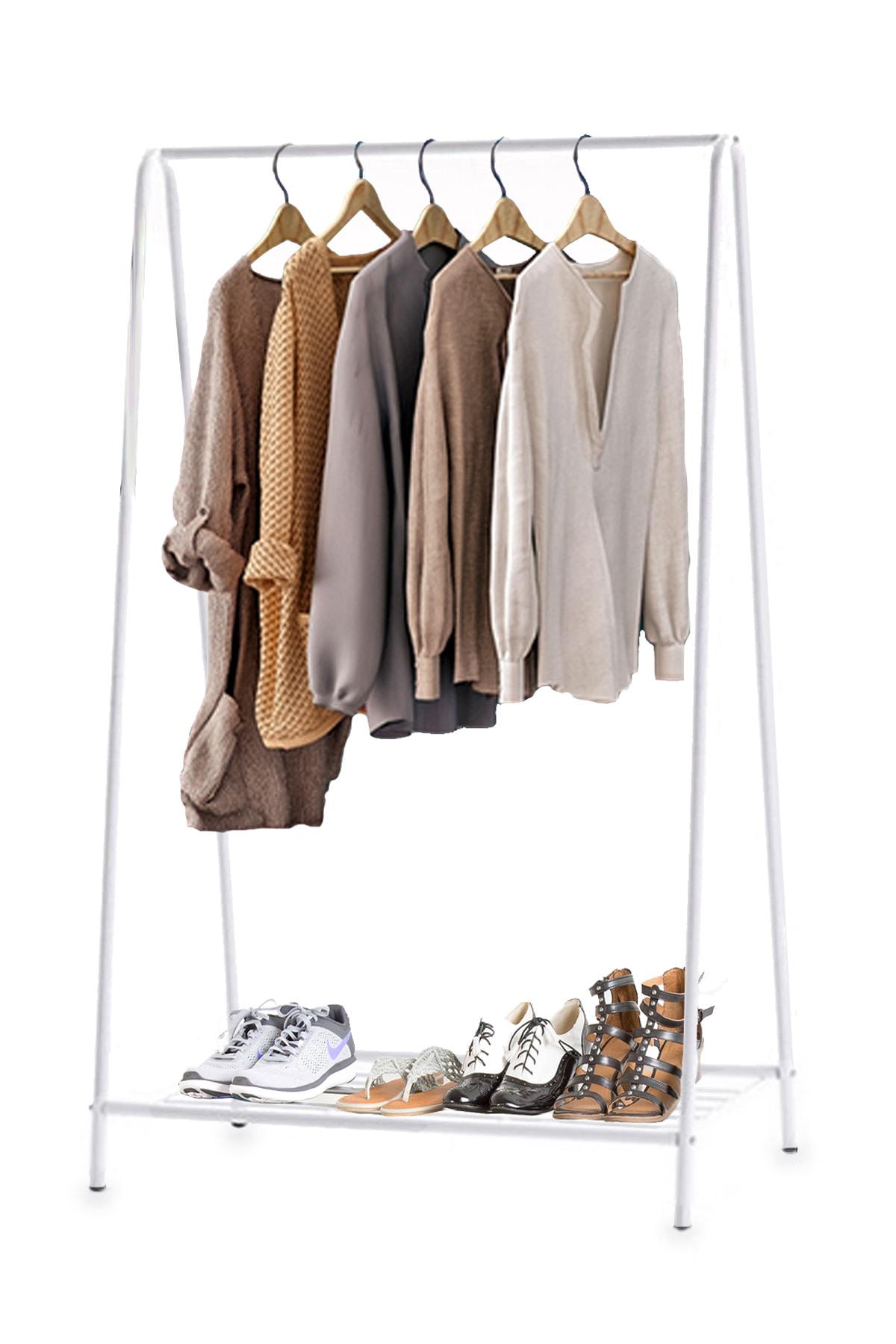 Konfeksiyon Askısı Ayaklı Elbise Askılığı 5061
