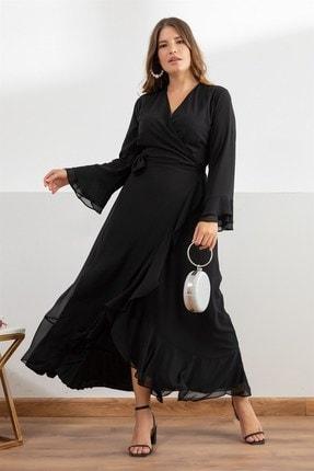 Kadın Siyah Aline Elbise fw01946eb resmi