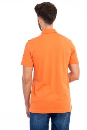 Kiğılı Erkek Turuncu Polo Yaka Düz Slimfit T-Shirt - 9093 1