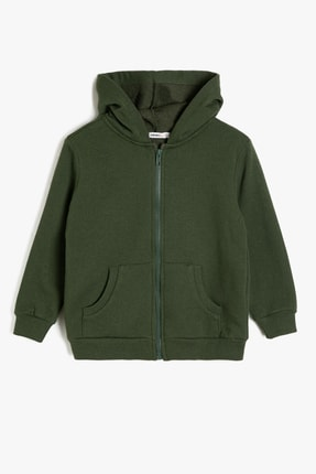 Koton Yeşil Erkek Çocuk Kapüsonlu Sweatshirt 0